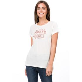 super.natural Print T-Shirt Damen fresh white/tandoori mountain call print